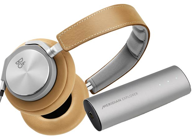 Bang & Olufsen BeoPlay H3 and H6 headphones and Meridian Explorer