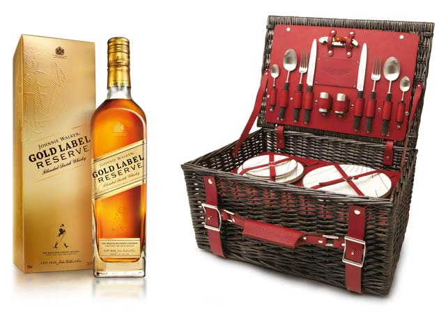 Johnnie Walker Gold Label Reserve and Aston Martin picnic hamper