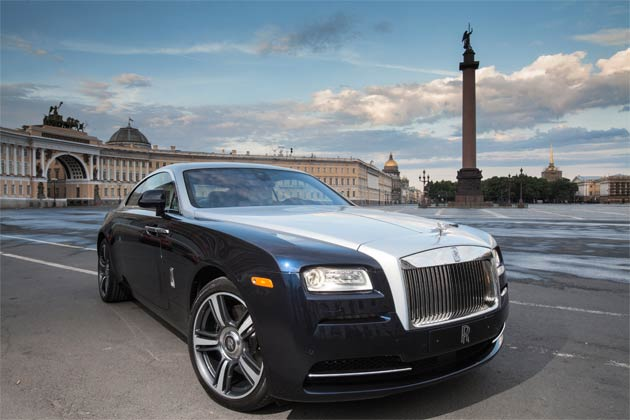 The Rolls-Royce Wraith debuts for the first time in St. Petersburgh