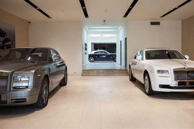 The new Rolls-Royce dealership is located at the world-famous Astoria Hotel