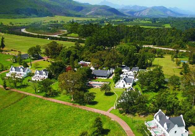 Simon Wittenberg vists the floral paradise that is the Kurland Hotel in South Africa