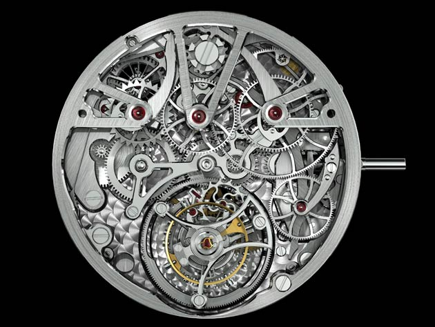 Beneath the sporty façade lies the highly complicated caliber AA-2301.