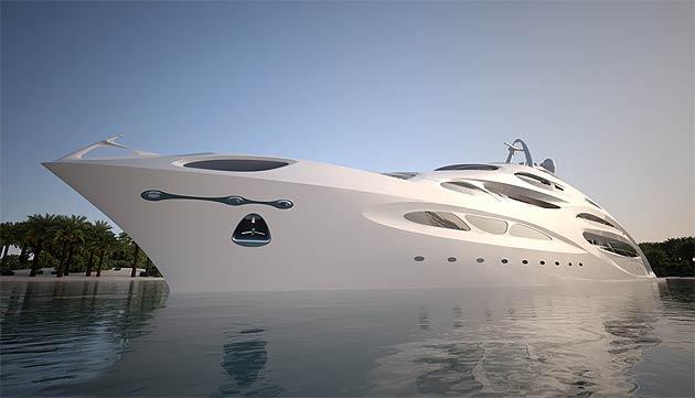 Zaha Hadid Creates Spectacular Superyacht For Blohm+Voss