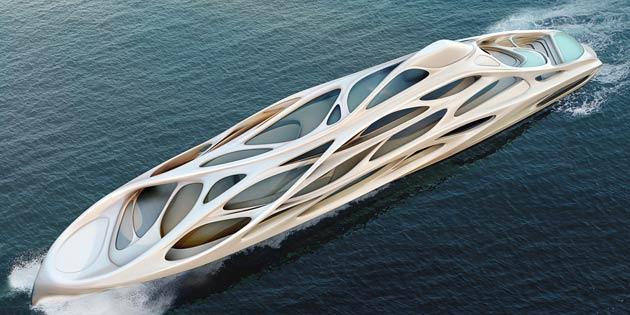 The 90 metre 'JAZZ' yacht