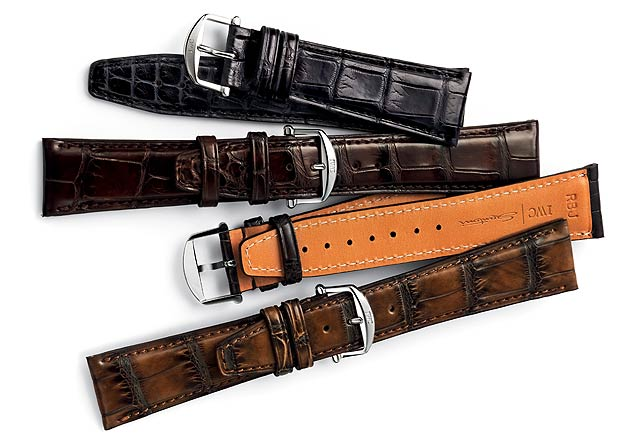 Leather straps made by Italian luxury shoe manufacturer Santoni