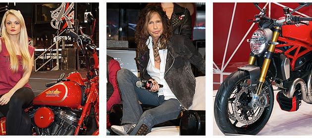 Steven Tyler, front man to the world famous rock band Aerosmith at EICMA 2013