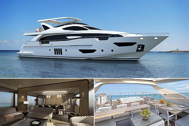 The Azimut Grande 95RPH luxury yacht