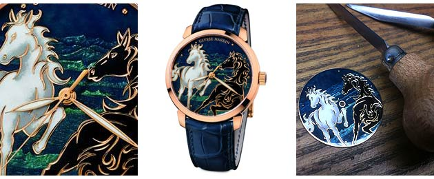 The Ulysse Nardin Classico Horse is limited to only 88 pieces and has a leather strap with matching rose gold tang buckle.