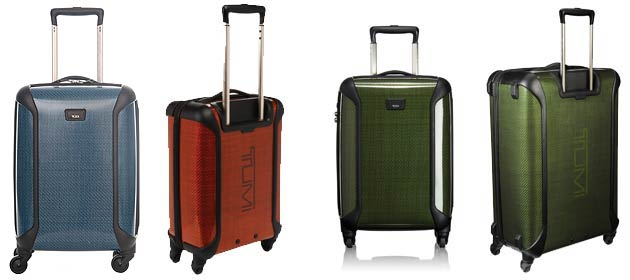 For Spring, Tumi is launching an addition to their existing Tegra-Lite collection - three new colour styles - Viridian, Cerulean and Iridium.