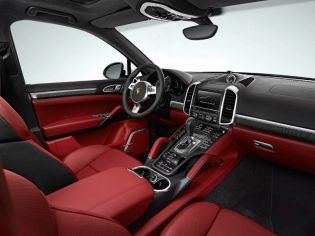 The sumptuous full leather interior, which is complemented by chrome and carbon trim, is beautifully laid out