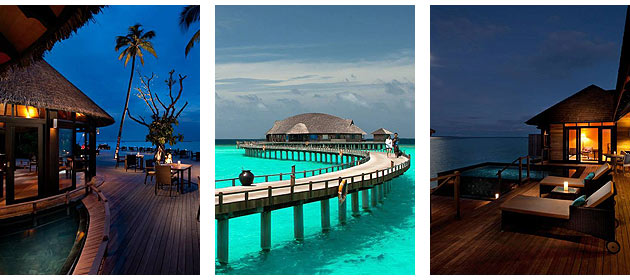 Sun Siyam Iru Fushi is a luxurious beach resort located in the Noonu Atoll Maldives, and features 221 luxury ocean-front villas, including 70 over-water bungalows, 11 bar and restaurant choices, a 20-room tropical spa