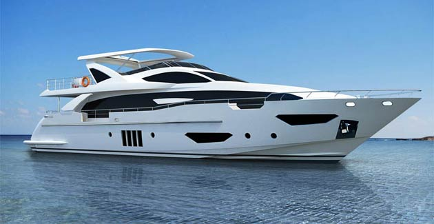 The Azimut Grande 95RPH is not only new, it is also the first Grande Collection model to be released since joining the Azimut Yachts family alongside the Atlantis, Magellano, Flybridge, and S.
