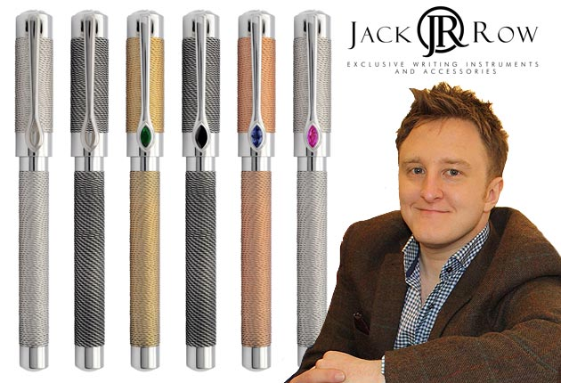 The Jack Row Mirage Collection of luxury pens and cufflinks