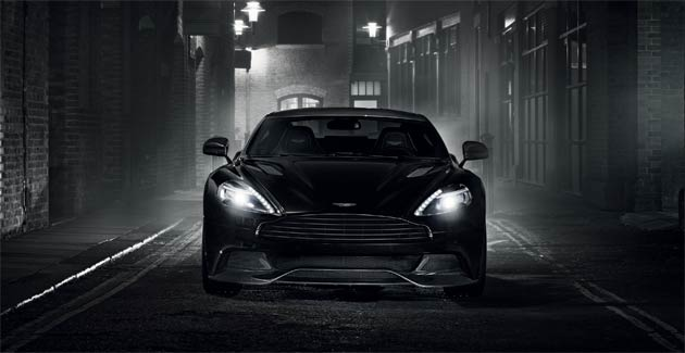 Aston Martin Vanquish Carbon Black and Carbon White