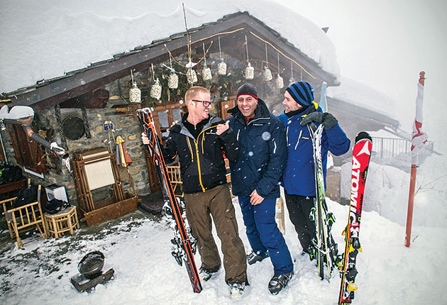 Join Heston, Marcus and Sat for a gourmet ski experience on top of the world