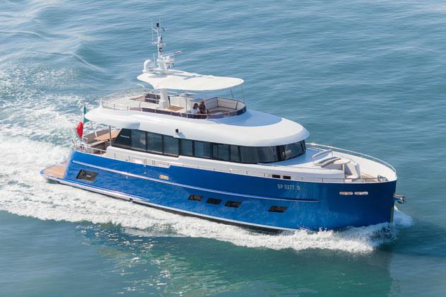 Opera star Andrea Bocelli recieves his Gamma 20 mini-superyacht