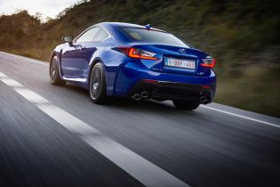 The rear of the RC F draws just as much attention due to its sharp edged taillights and a double helping of stacked twin elliptical exhausts