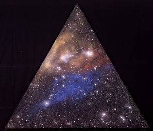 'Pyramid' by Ottavio Fabbri. 2006 (170cm x 195cm) Mixed Media