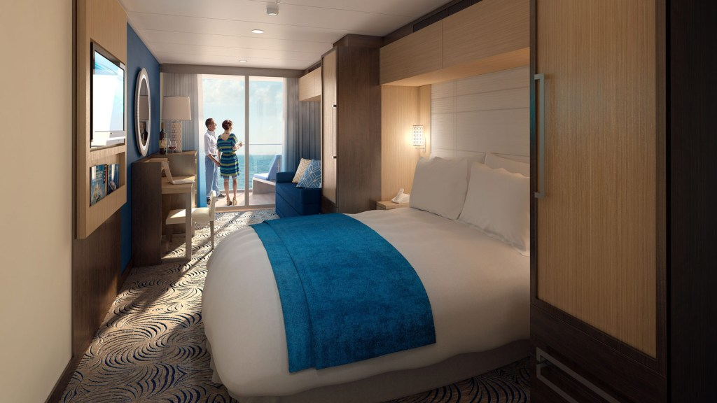 Stateroom on the Anthem of the Seas