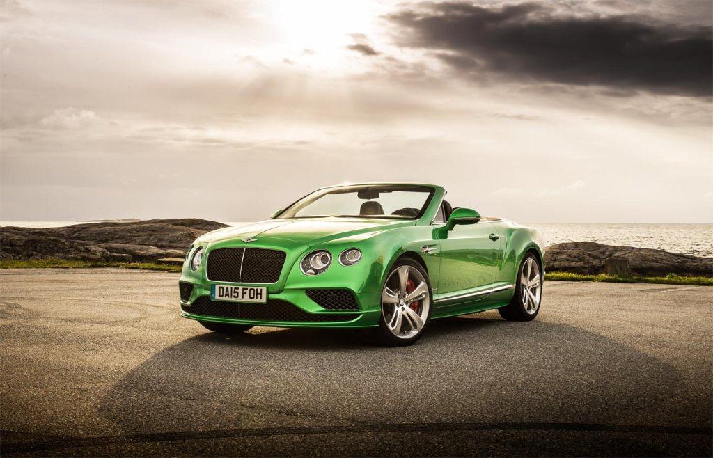 Bentley GT Speed Convertible in Apple Green paint
