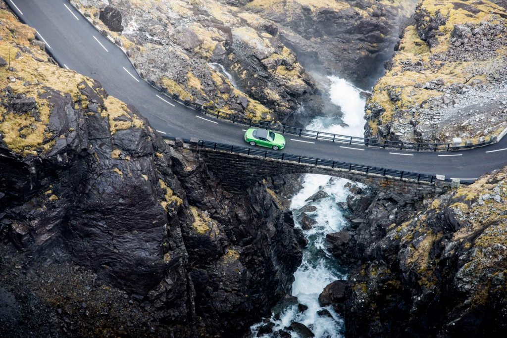 The Bentley Continental GT on the Trolligsten Mountain Road in Norway