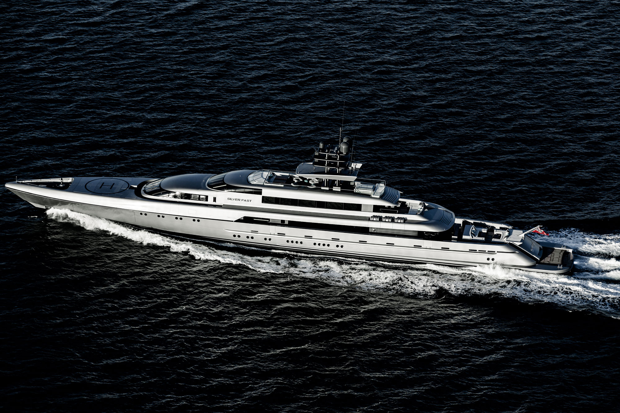 SILVER FAST is the world's largest and fastest aluminium motor yacht with conventional propulsion