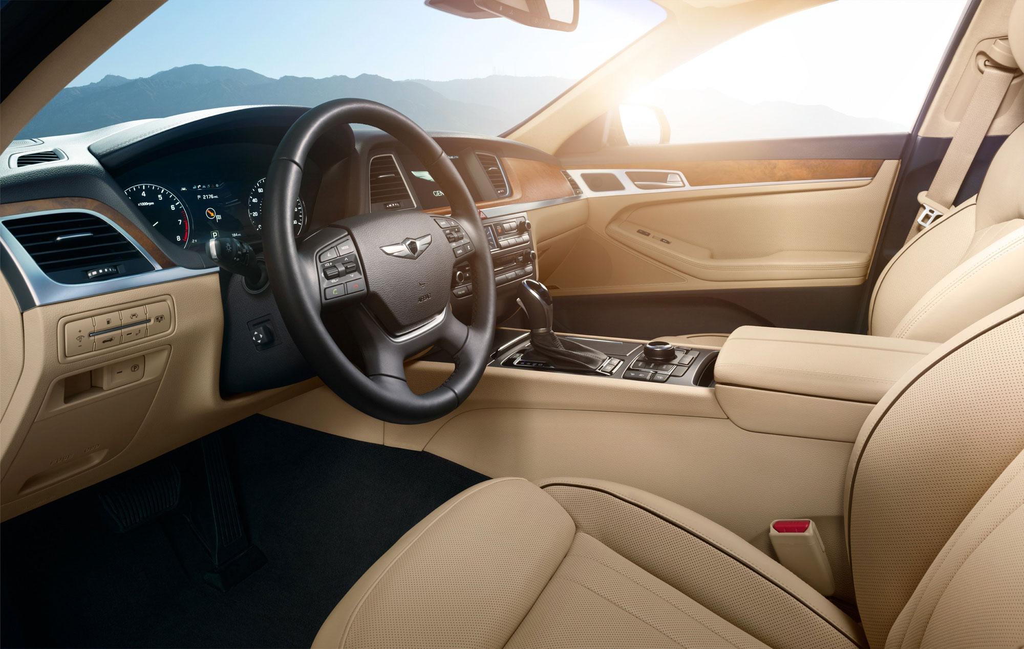 The 2016 Hyundai Genesis interior