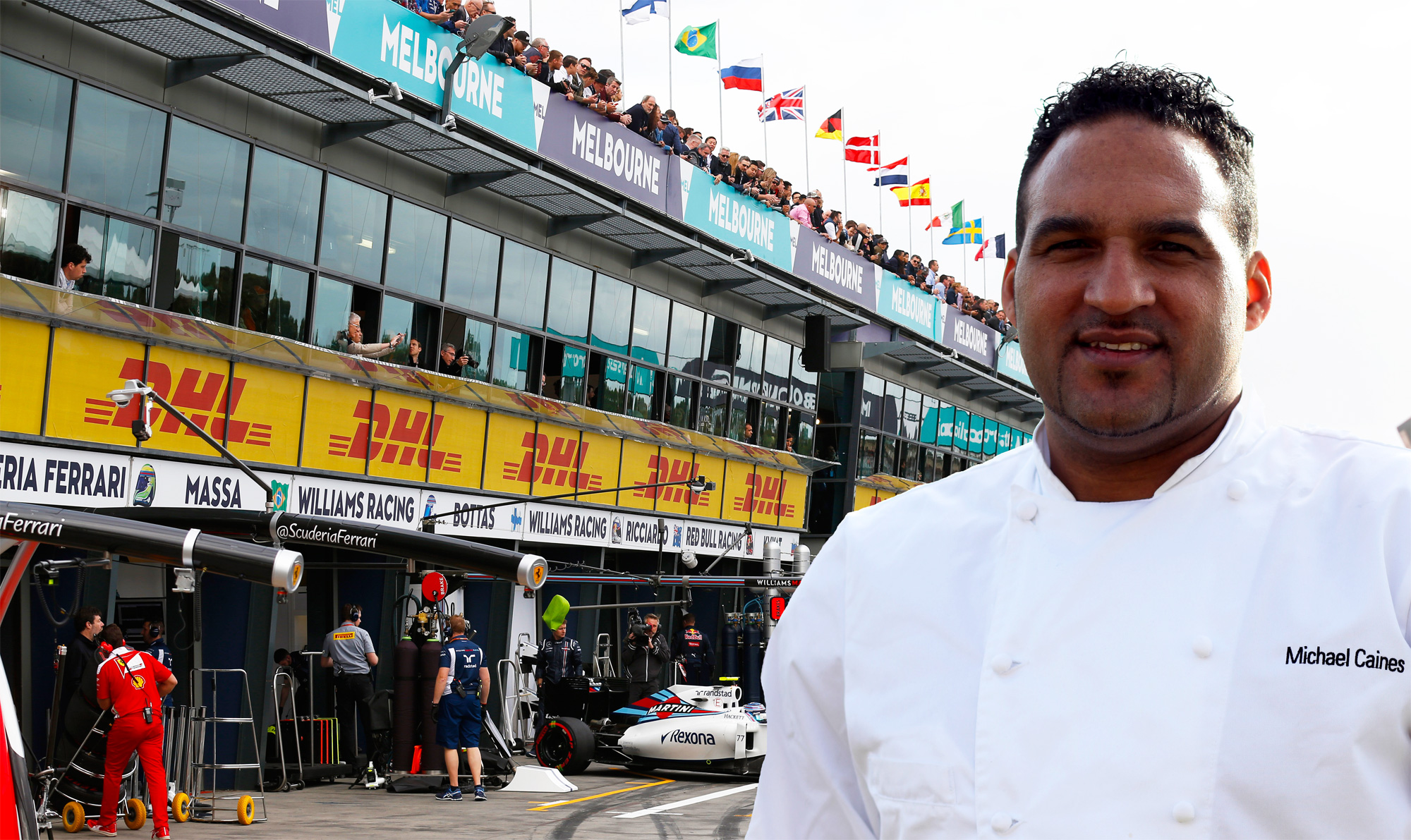 Michelin-starred chef, Michael Caines MBE