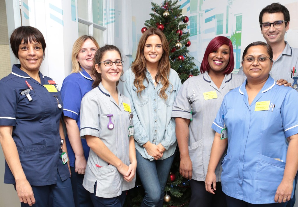 Made in Chelsea's Binky Felstead Visits Young Patients At Royal Brompton Hospital 2