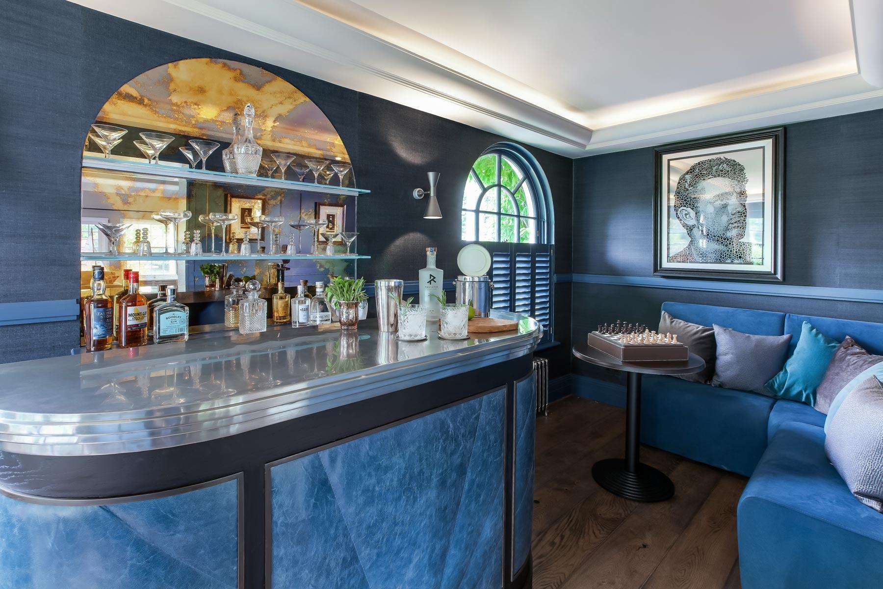 Mark Taylor Design Draws Inspiration From The Berkeley Hotel's Blue Bar