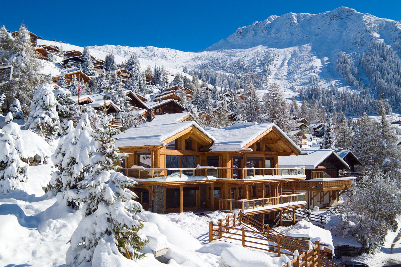 красивые шале в альпах фото