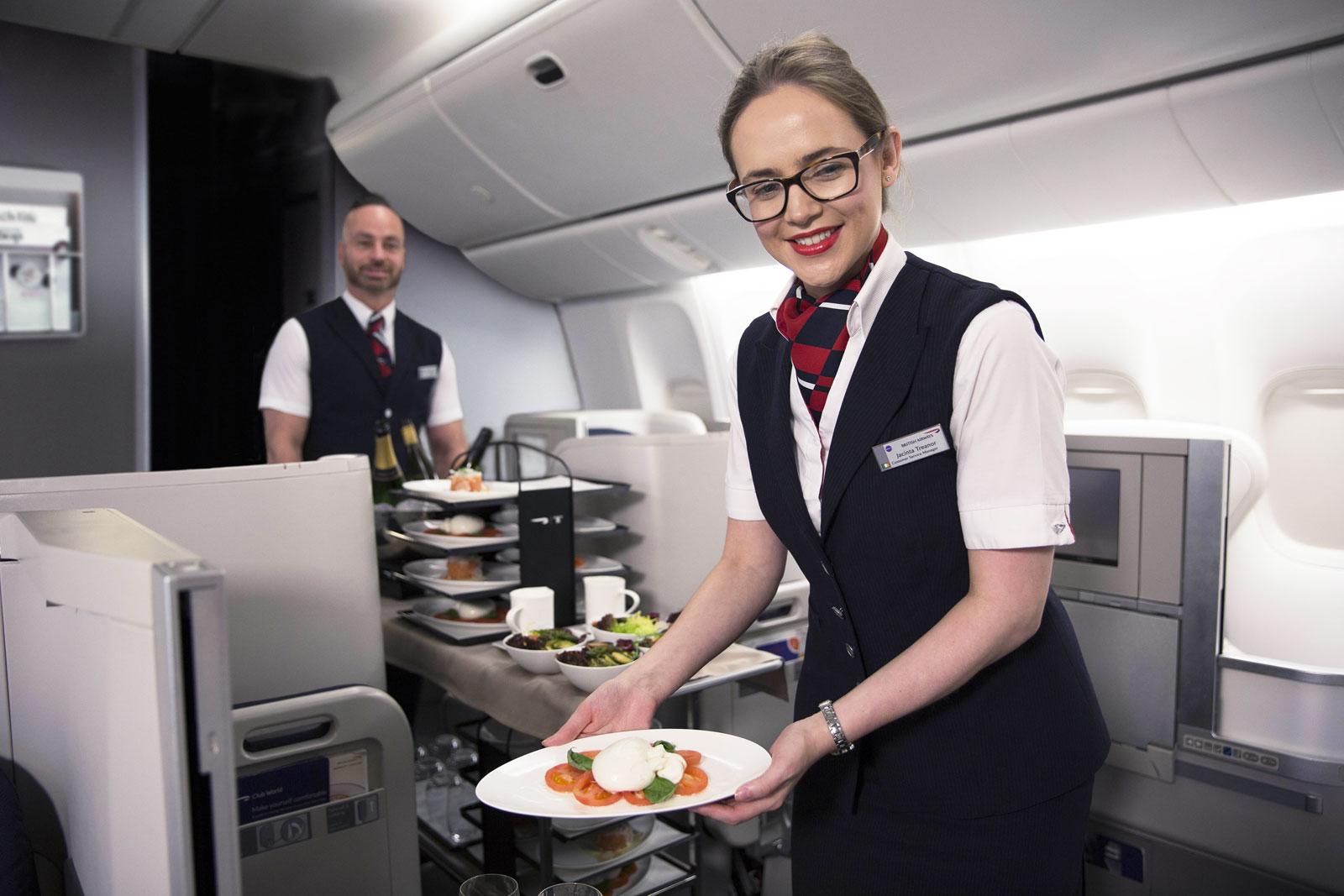 British Airways inflight Waiter Service