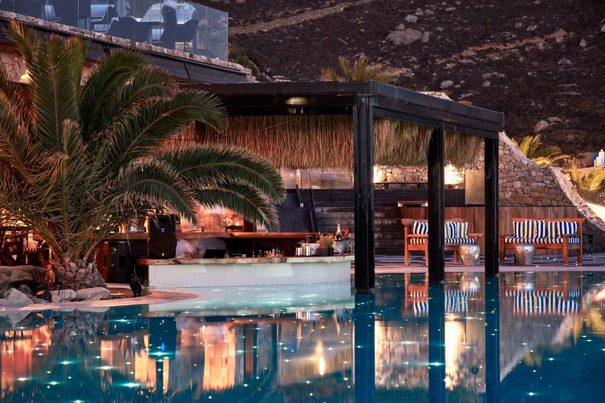 Myconian Imperial Pool Bar in Mykonos Greece