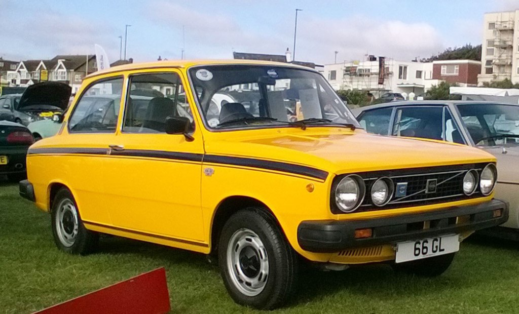 The Volvo 66 compact car which was first introduced in August 1975