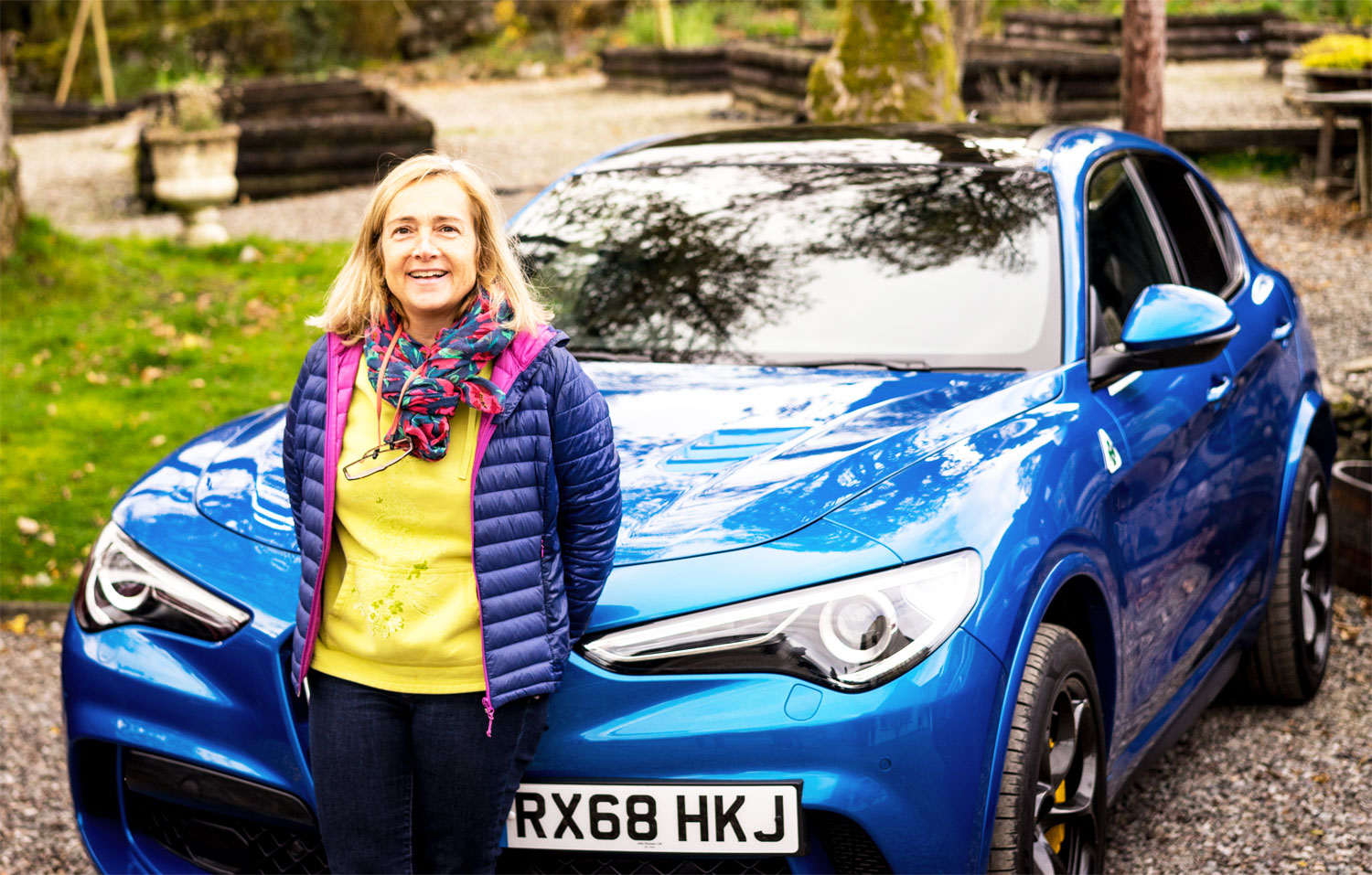 Gina Baksa takes Alfa Romeo's new 2.9L Direct-Injection V6 Bi-Turbo SUV for a spin in the Scottish Highlands.