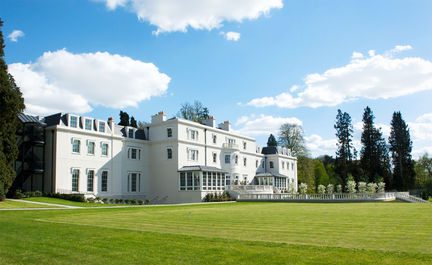 The stunning exterior of Coworth Park