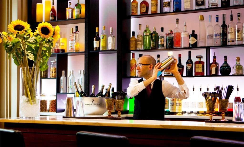 The bar at the Gainsborough Bath Spa Hotel.