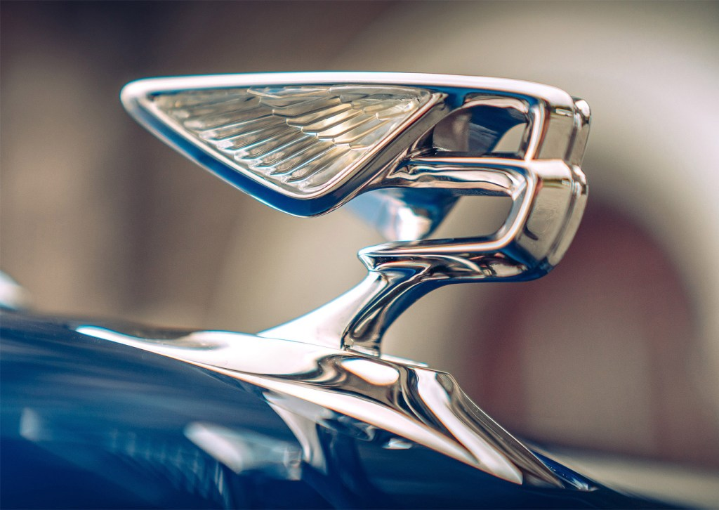 The new-restyled Bentley Motors Flying B Mascot.