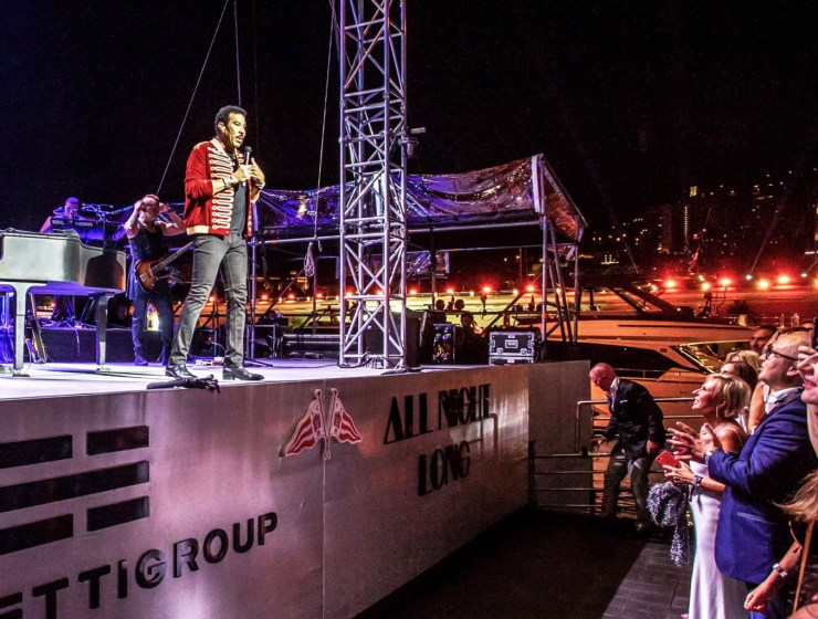 Lionel Richie Parties 'All Night Long' with the Ferretti Group in Monaco