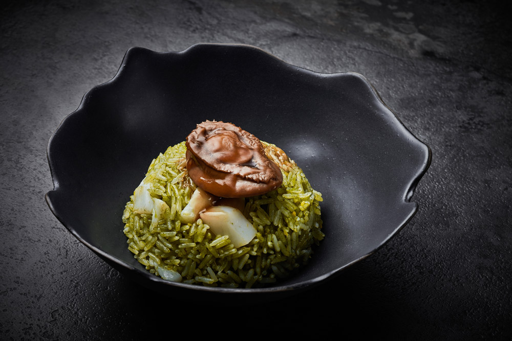 Duddells braised abalone rice and scallop.