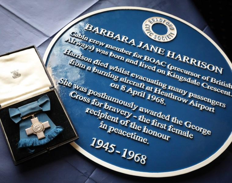 Blue Plaque for Former BOAC Cabin Crew Member Barbara Harrison 5