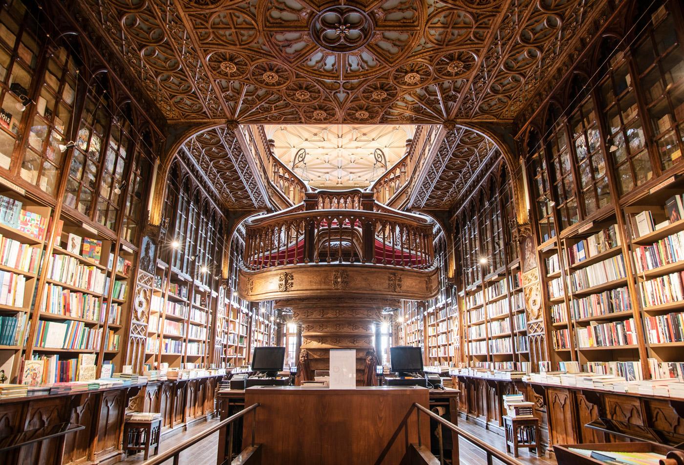 Livraria Lello - The most beautiful bookshop in Porto.