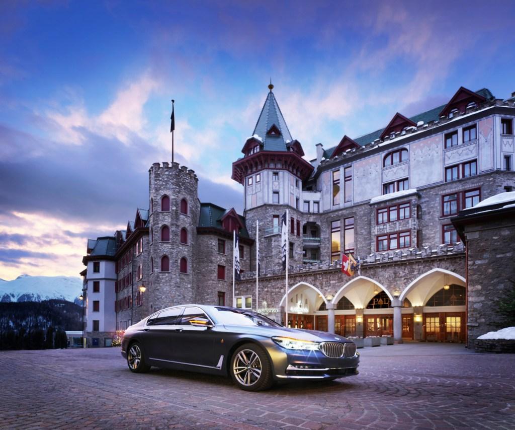 The exterior of Badrutt's Palace Hotel. Photo by Paul-Thuysbaert.