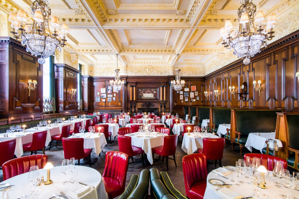 Inside Simpson's in the Strand restaurant