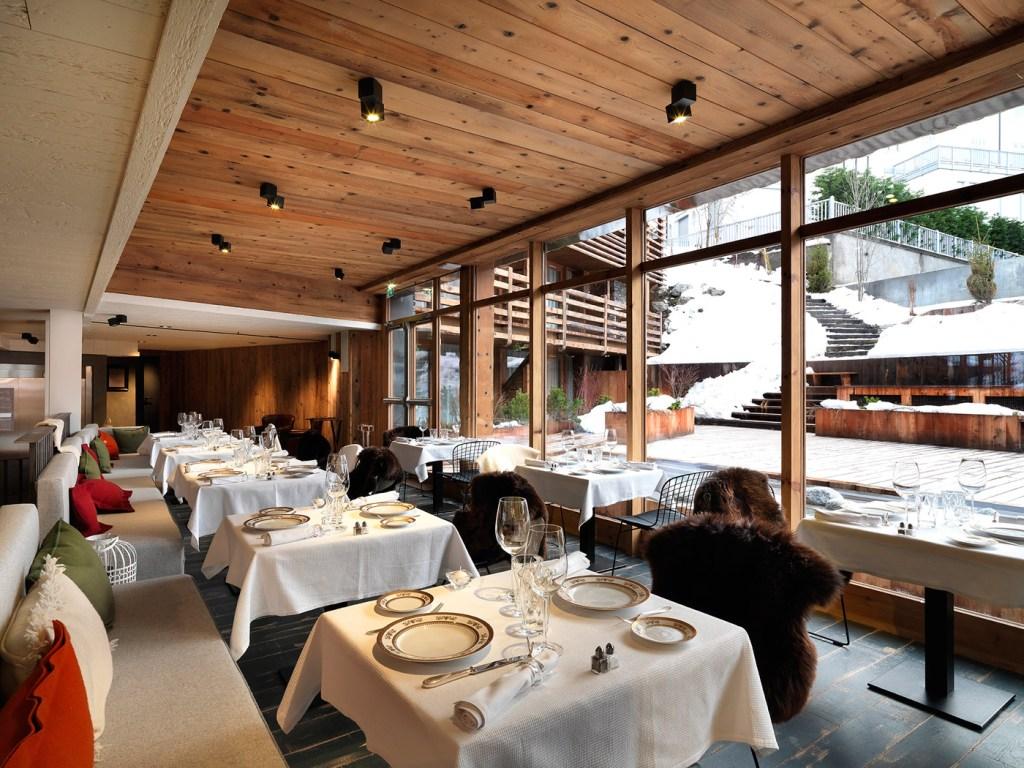 Dining room at the Le M de Megève