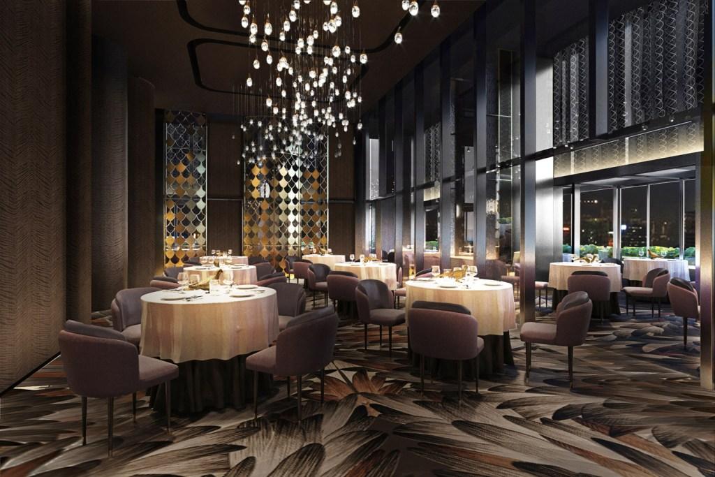 Interior of Saint Pierre restaurant in Kuala Lumpur