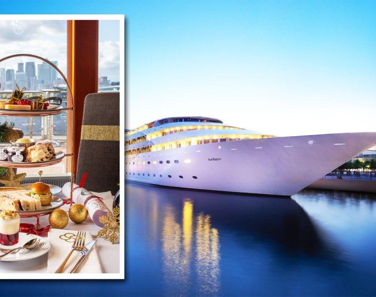 The luxurious Sunborn London Yacht Hotel