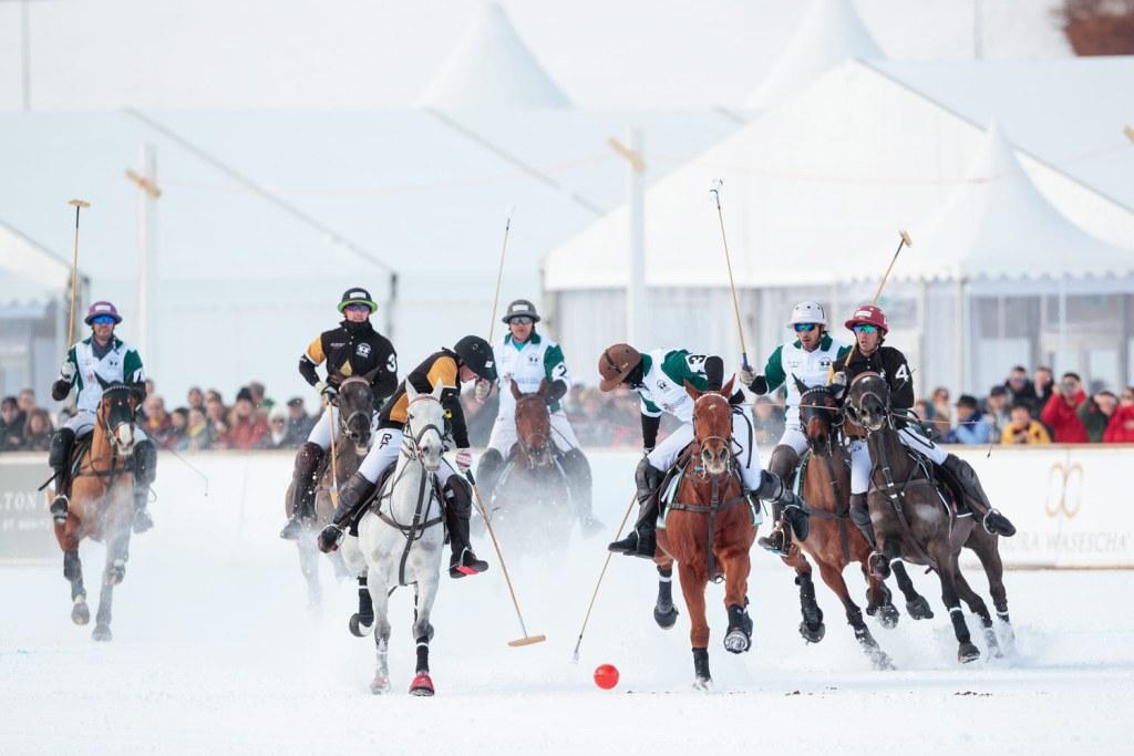 Badrutts Palace vs Azerbaijan Land of Fire Snow Polo World Cup St Moritz 2020