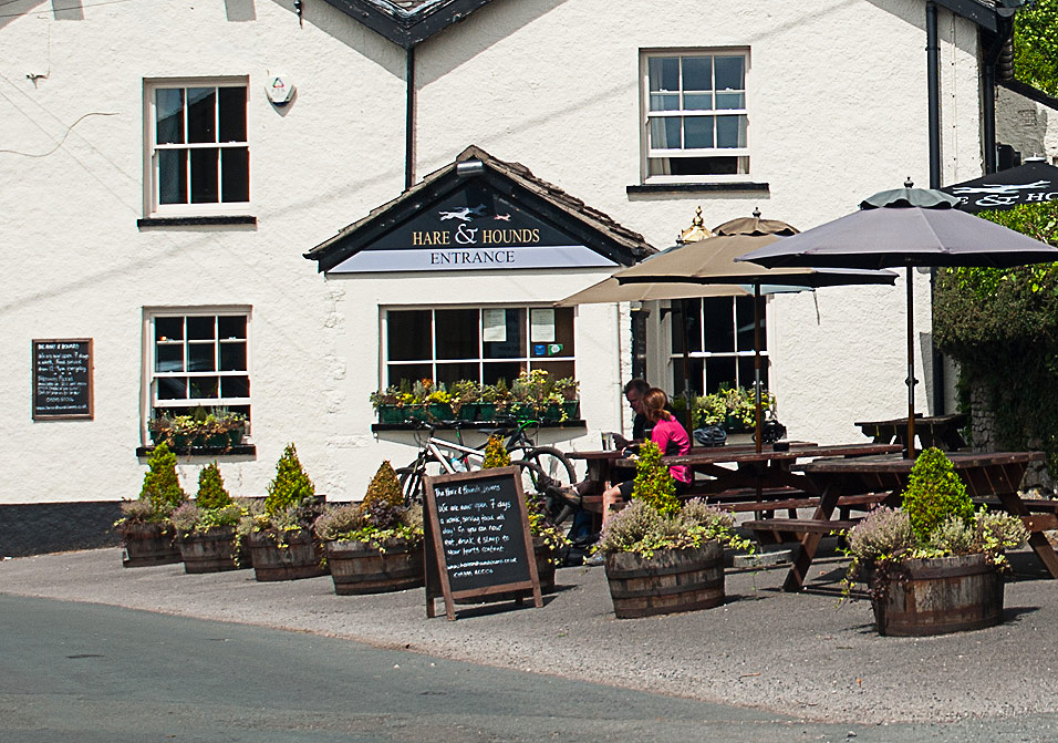 Exterior of Hare & Hounds Levens in the Lake Districts Lyth Valley