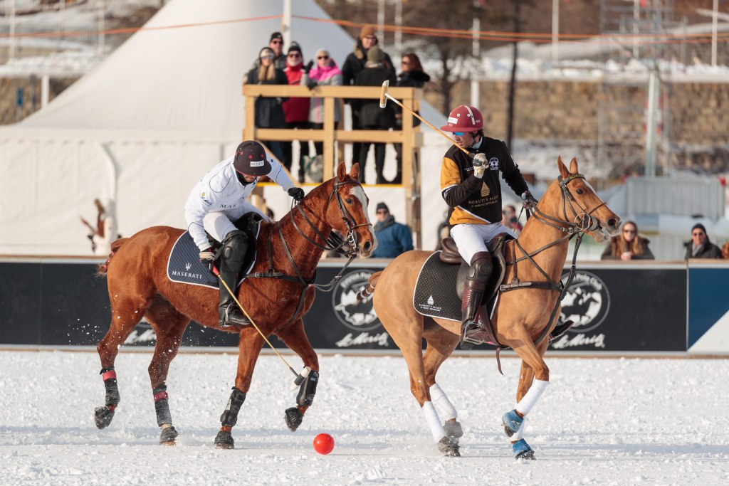 Maserati vs Badrutts Palace Day Two of the Snow Polo World Cup St. Moritz